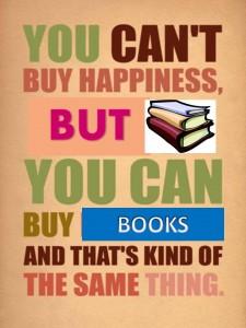 buy happiness, buy books